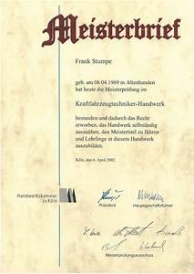 Kfz Meister Bei Der Polizei : kfz meisterbrief kfz meister f stumpe k ln l venich ~ Jslefanu.com Haus und Dekorationen