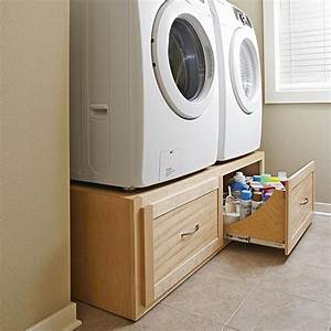 Stack-on Washer/dryer Stand Woodworking Plan from WOOD
