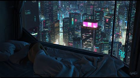 cyberpunk neon city fullhd wallpaper engine