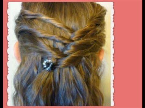hairstyle tutorial criss cross twists  medium