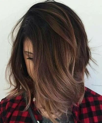 balayage brunette fall hair color ideas straight