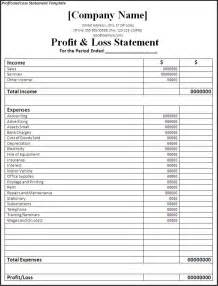 P L Template Excel Printable Profit And Loss Statement Free Word 39 S Templates