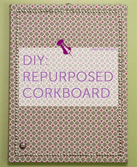 diy  purposed corkboard table    julie wampler