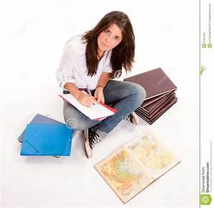 Hardworking teenager stock image. Image of education ...