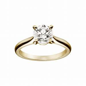 Yellow gold solitaire engagement rings beauty and for Golden wedding rings
