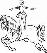 Coloring Horse Acrobat Printable Riding Hula King Popular Complex Madrid Ball sketch template