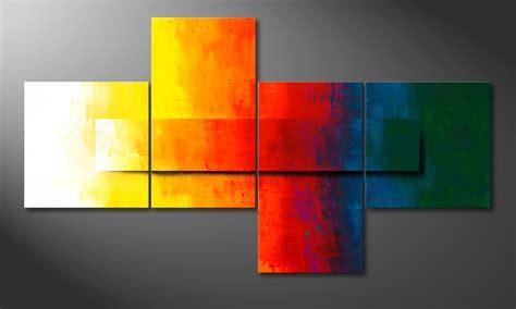 Bild Modern by Das Moderne Bild Rainbow Colors 220x120cm
