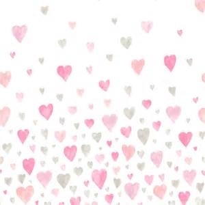 deko babyzimmer casadeco 39 paul 39 tapetenbild herzen rosa lila beige 100x280cm bei fantasyroom kaufen