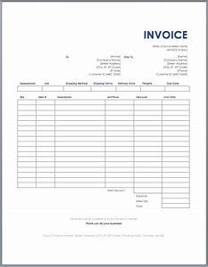 invoice template on excel