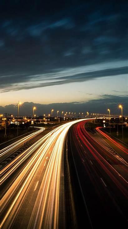 Night 4k Road During Lighting Wallpapers Iphone