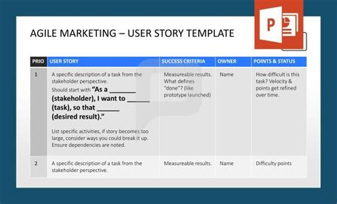 agile user story template 53 best agile management powerpoint templates images on project management