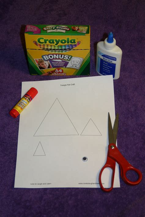 triangle template for kid craft triangles learning activities for shapes love to laugh