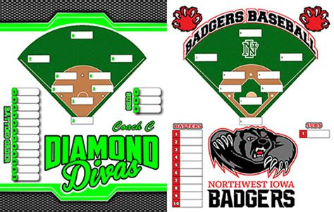 Personalized Magnetic Dry Erase Coaches Lineup Board For