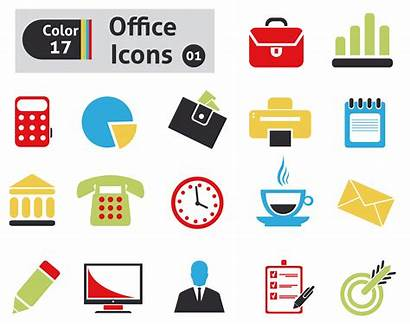 Office Icons Colour Vector Graphic Bw Creative