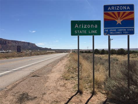 """File:2016-03-20 13 21 31 """"Welcome to Arizona"""" sign at the ..."""
