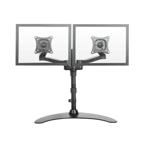 dual monitor stand up desk dual lcd monitor free standing desk mount stand heavy
