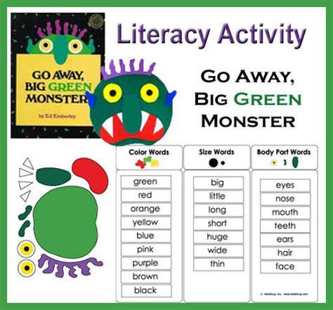 literacy lesson plans preschool go away big green literacy activity kidssoup 481