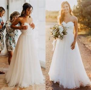 discount elegant tulle beach wedding dresses 2017 With elegant wedding dresses 2017