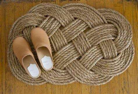 diy woven rope doormat gardenista