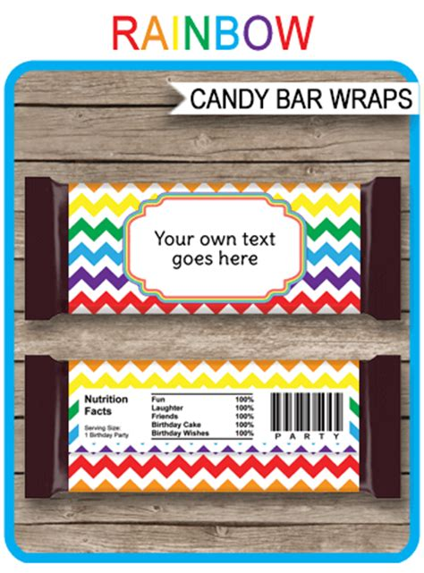 rainbow hershey candy bar wrappers personalized candy bars