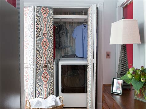 how to convert a closet into a laundry room