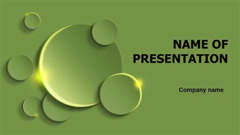 green circles powerpoint template