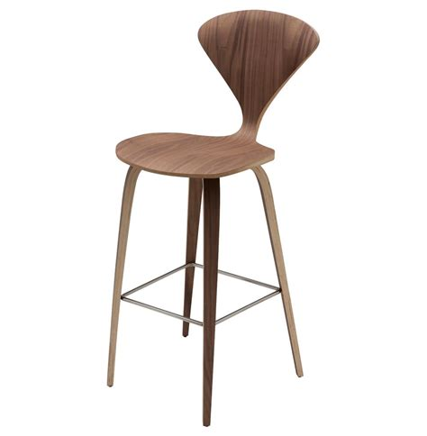 Counter Stools by Regan American Walnut Modern Molded Wood Counter