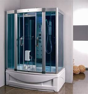 Steam Shower Room With Deep Whirlpool Tub  9004