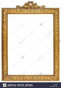 Gold square antique picture frame cutout art craft Stock ...