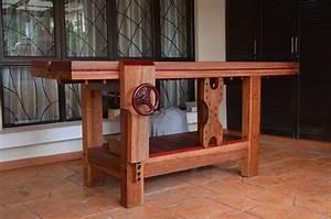 Sam's Tropical Wood Roubo Workbench - The Wood Whisperer