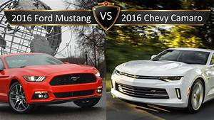 2016 Chevy Camaro vs. Ford Mustang: By the Numbers - YouTube