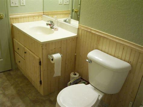 install bathroom beadboard