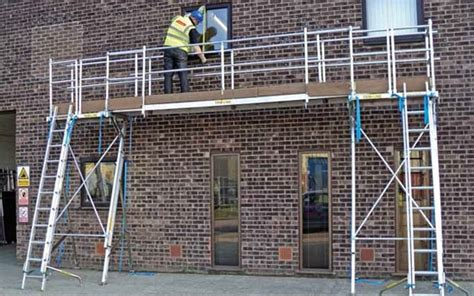 Safe access platform for fascia, soffit or gutter work