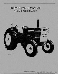 Oliver  U0026 Cockshutt 1365 1370 Tractor Parts Manual