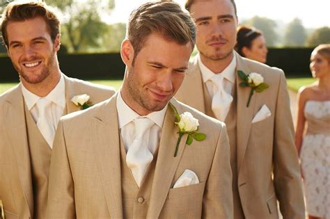 Elegans Men In Beige Menswear Beige Wedding Suit To Hire