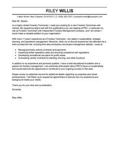 agriculture environment cover letter examples