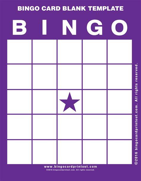 Bingo Card Template Bingo Card Blank Template Bingocardprintout