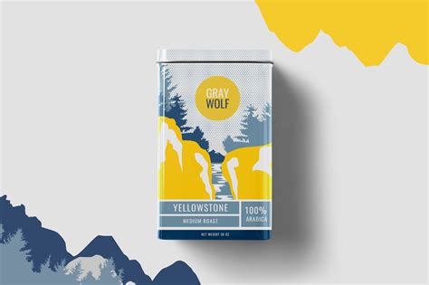 The wolf is associated with courage, strength, loyalty, and success at hunting in our culture. Gray Wolf Coffee (Concept) on Packaging of the World - Creative Package Design Gallery