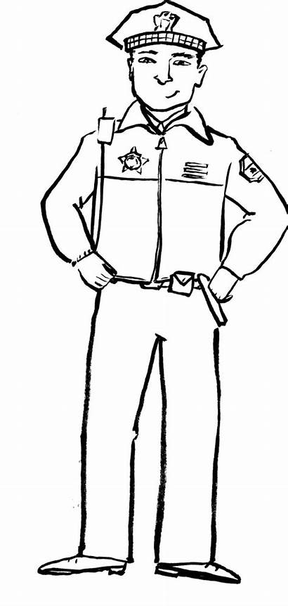 Police Coloring Officer Pages Drawing Community Policeman