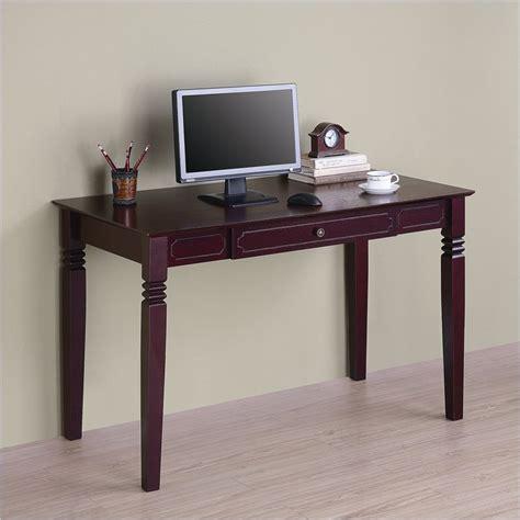 unfinished oak writing desk walker edison elegant solid wood writing walnut brown