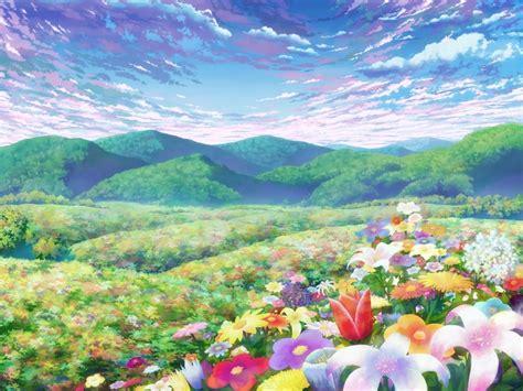 Anime Flower Wallpaper - blue flower anime 16 background hdflowerwallpaper