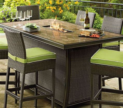 bar height patio table with pit 25 best ideas about table on small
