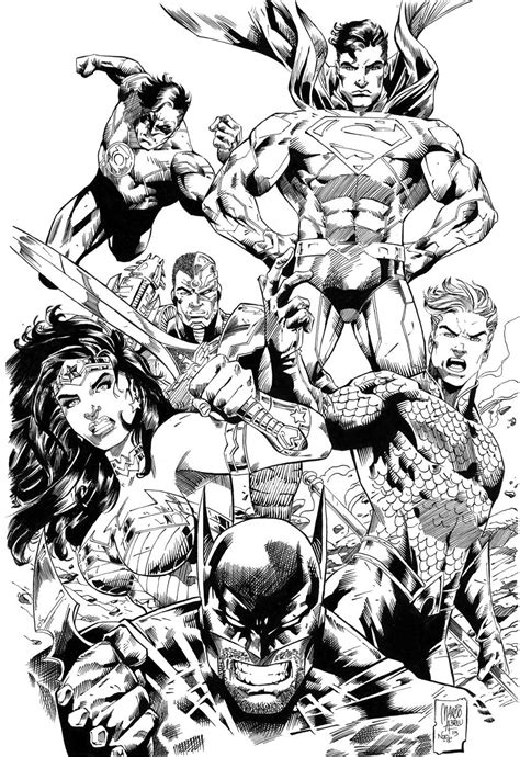 Justice League comic colouring page | Comic | Dc comics art, Drawing superheroes, Justice league