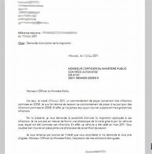 Lettre Pour Contester Une Amende : modele de lettre officier du ministere public andallthingsdelicious ~ Medecine-chirurgie-esthetiques.com Avis de Voitures