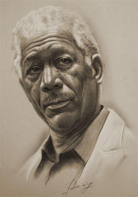 remarkable pencil portraits  celebrities  words