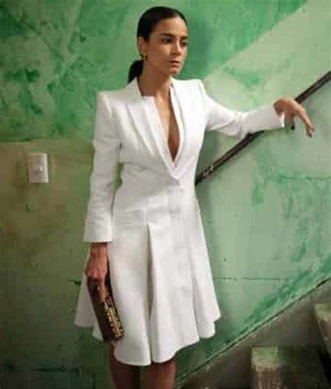 Queen of The South Alice Braga White Coat | Teresa White ...
