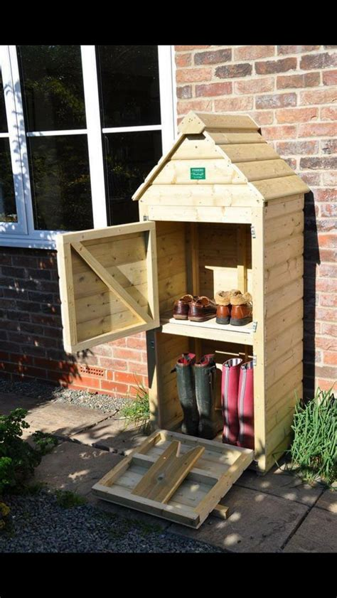boot  outdoor shoes storage diy garden furniture