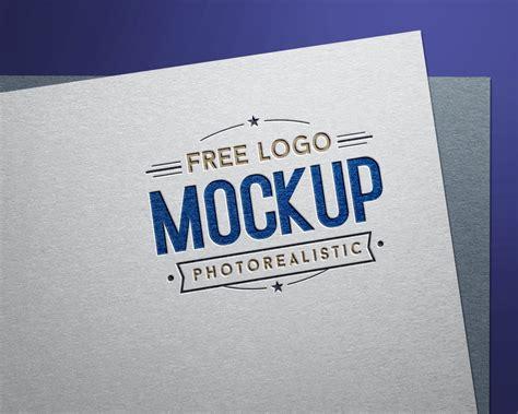 Free Debossed Color Logo Design / Logotype Mockup PSD ...