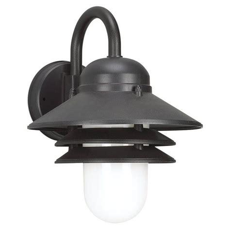 sea gull lighting 83055 12 black outdoor wall 1 light barn