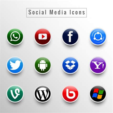 Social Media Icons Vector The Gallery For Gt Social Media Vector Icons